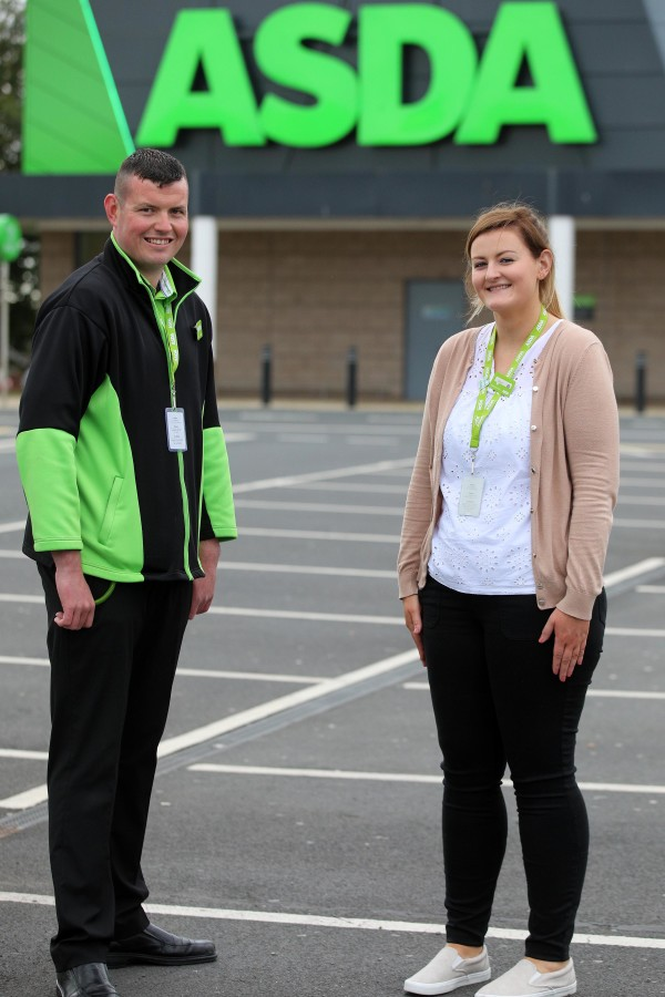 Aidan Campbell and Emer Devlin from Asda Cookstown