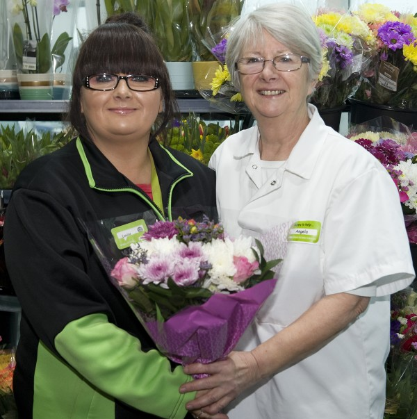 Asda Llangefni colleagues Angela and Louise Carter on Mother's Day