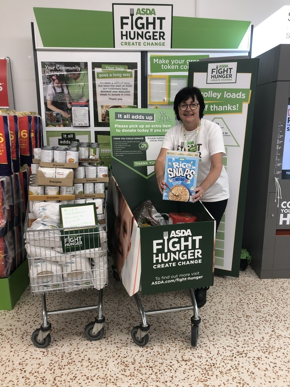 SVDP Cookstown Foodbank support | Asda Cookstown
