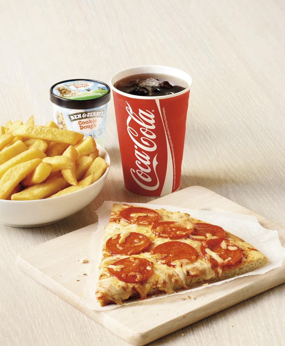 Pizza slice meal deal