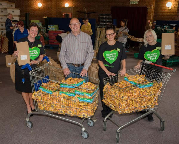 Asda colleagues with Urban Outreach founder Dave Bagley