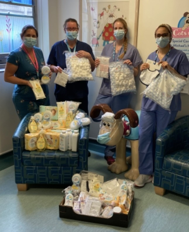 Nursing staff from St Micheal's Hospital baby unit thank us for donations | Asda Longwell Green