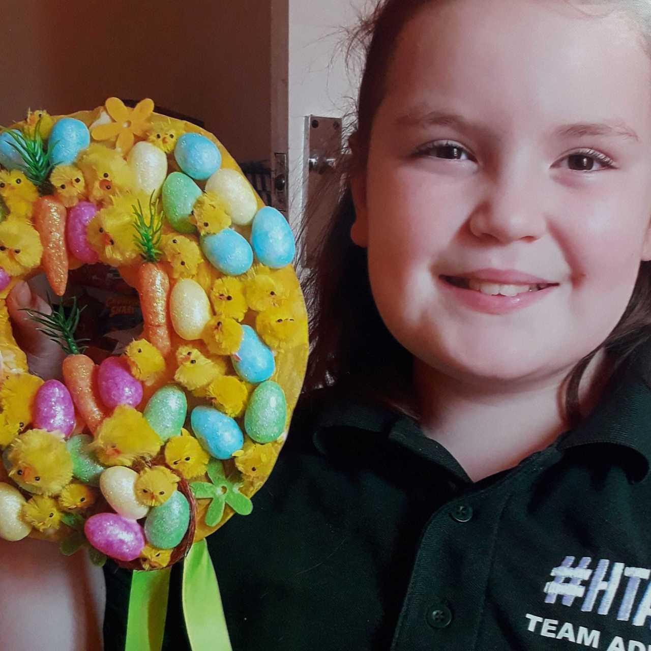 Annalise's Easter wreath | Asda Llanelli Murray Street