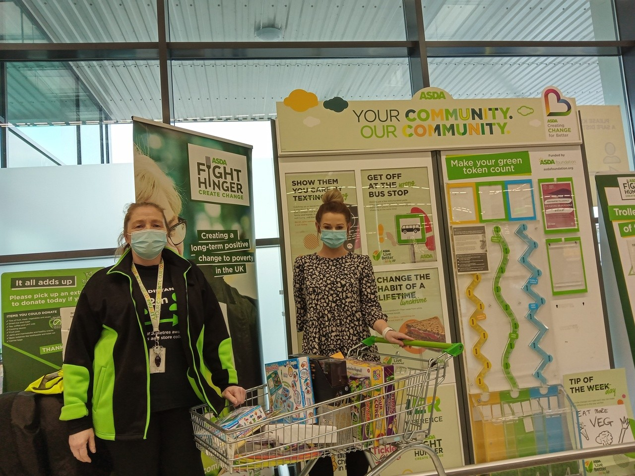 Donation to St Andrew's Primary School | Asda Newport Pillgwenlly