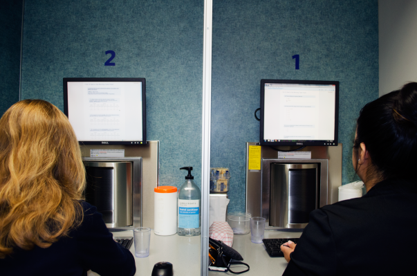 Sam's Club associates testing products in sensory lab