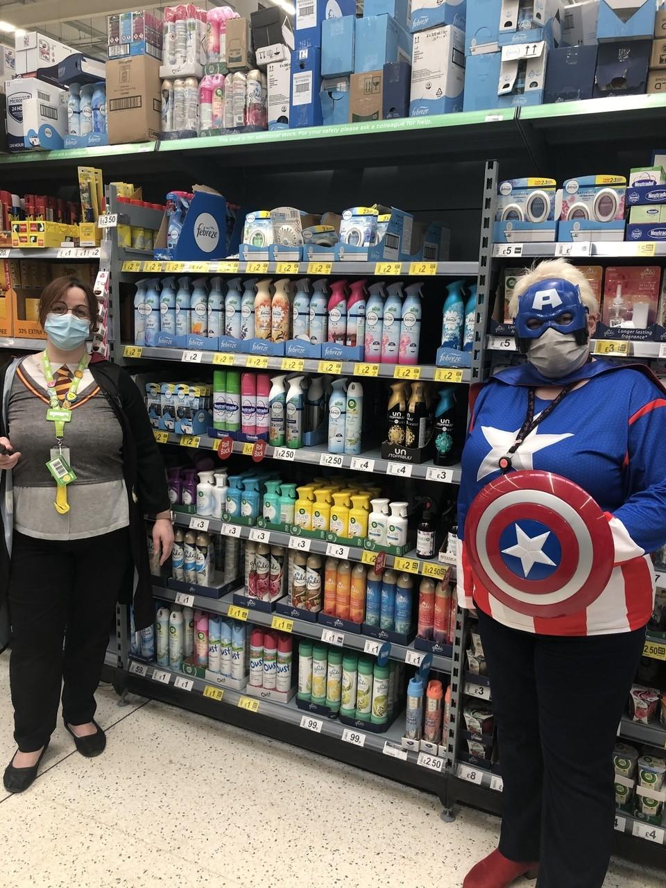 Captain America saves Asda Portadown | Asda Portadown