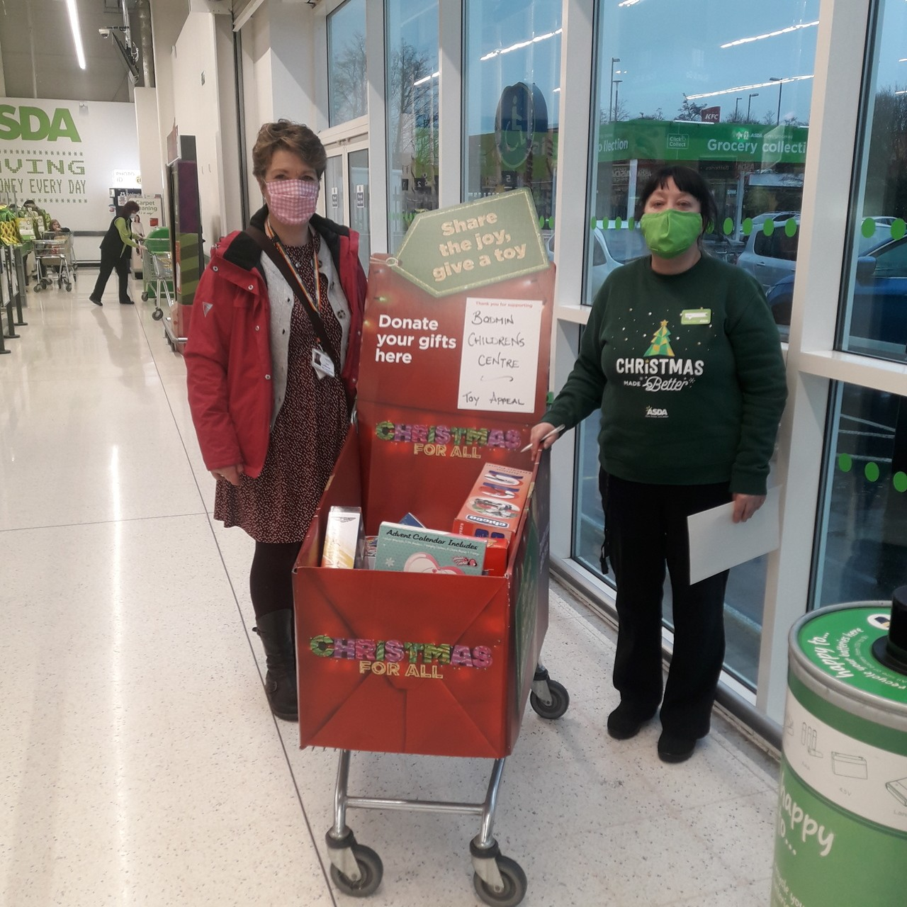 Thanks for supporting our toy appeal | Asda Bodmin