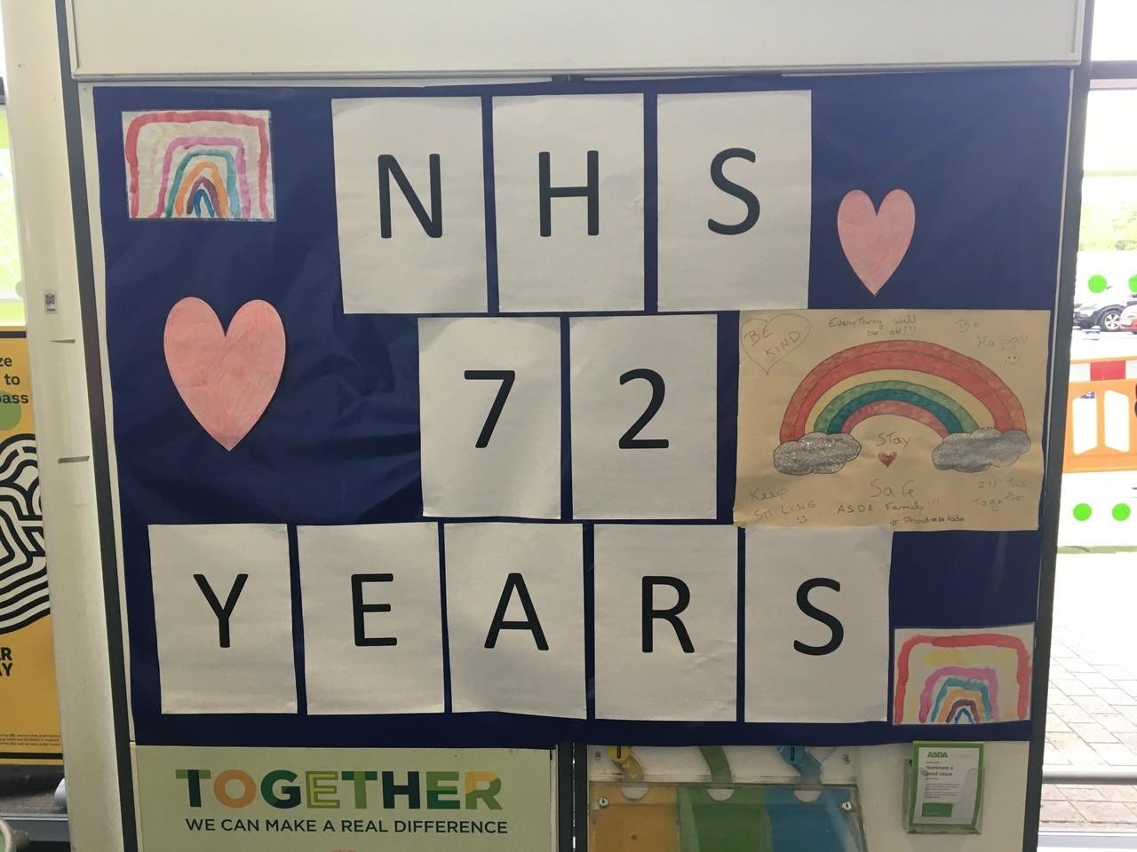 Happy 72nd birthday to the NHS | Asda Swindon Haydon