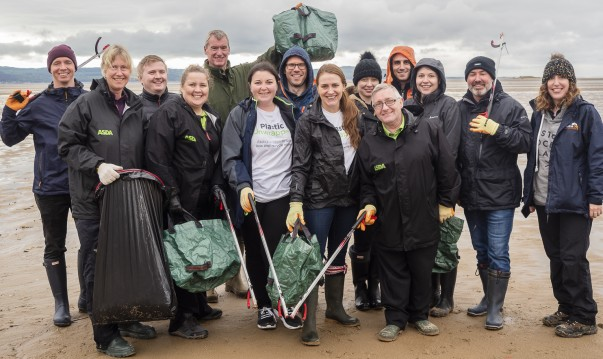Asda colleagues help clean up West Kirby beach