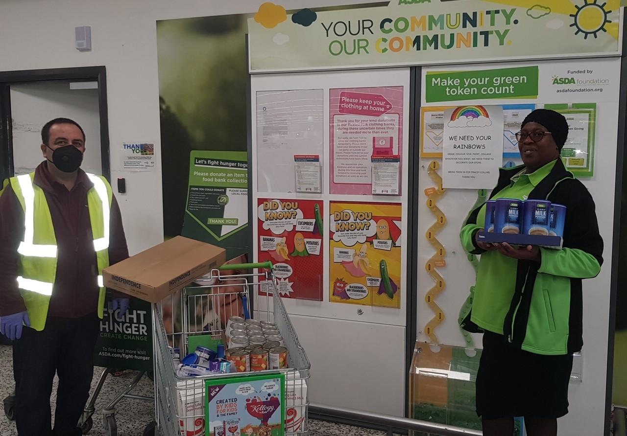 Foodbank shopping | Asda Small Heath