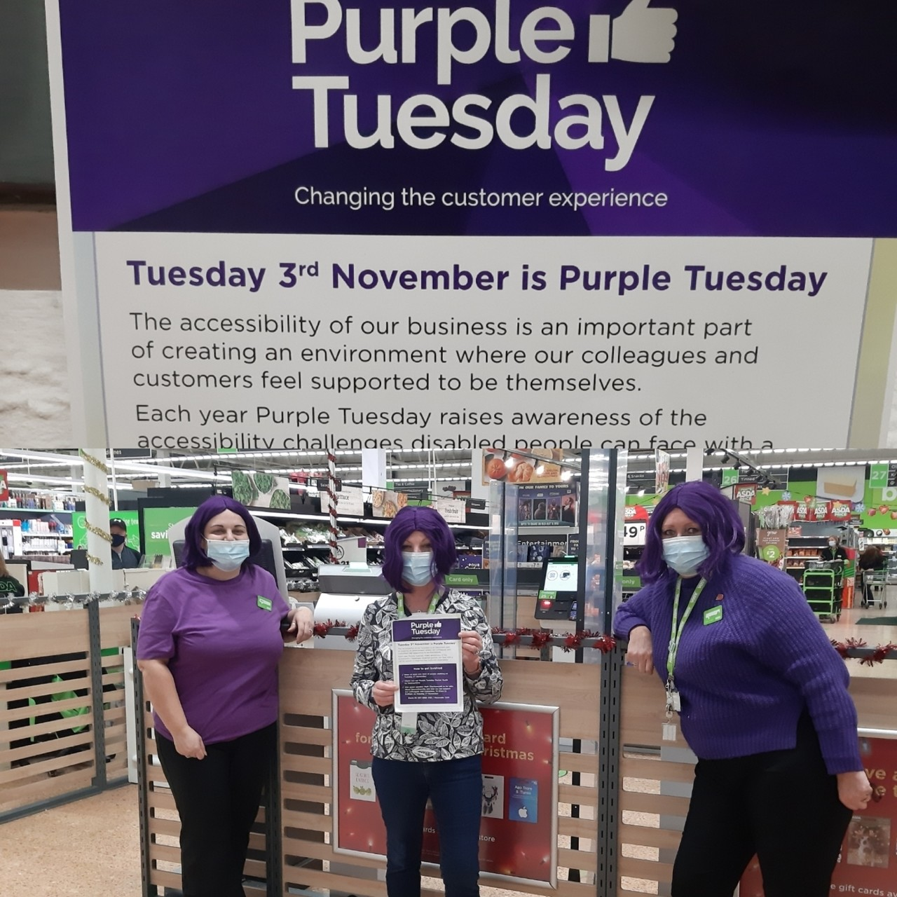 Spreading the word about Purple Tuesday | Asda Middlesbrough