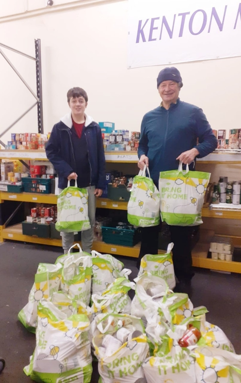 Food parcels for Kenton Food Bank | Asda Gosforth