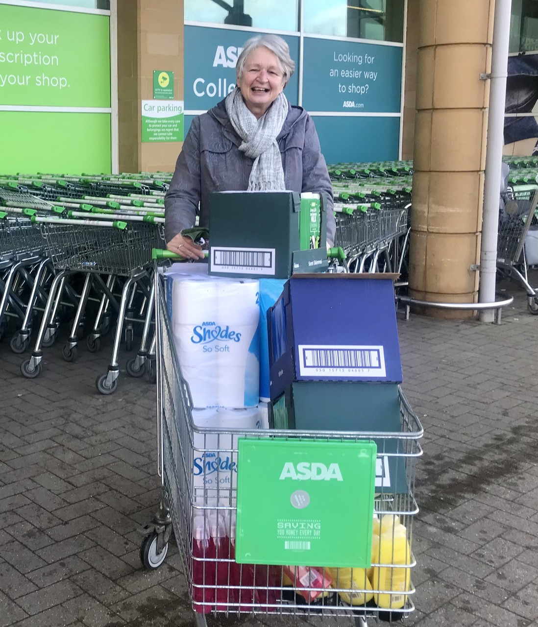 Crosspoint Foodbank donation | Asda Frome