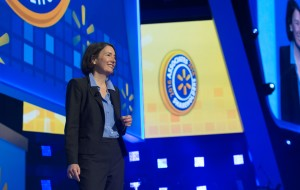 Chief Sustainability Officer Kathleen McLaughlin on stage at the 2016 Shareholders Meeting