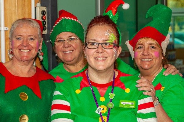 Colleagues at Asda Bootle dress as elves to support Elf Day for Alzheimer's Society