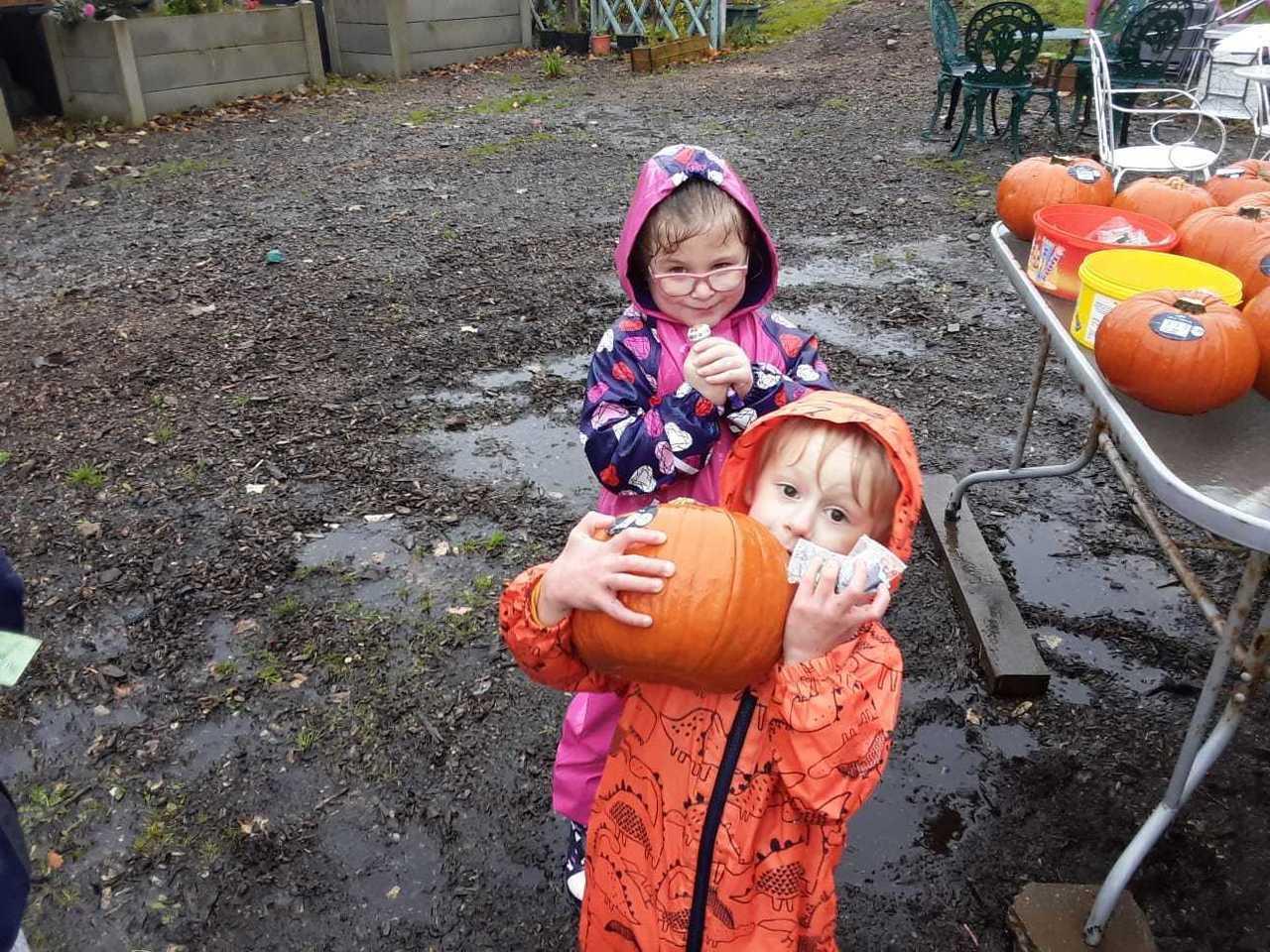 Bolton store Pumpkin donation. | Asda Bolton
