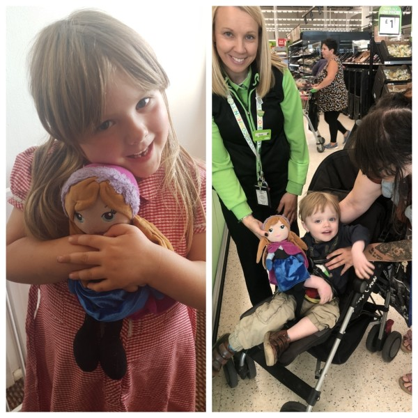 Colleagues at Asda Merthyr Tydfil reunited five-year-old Skyla with her favourite doll