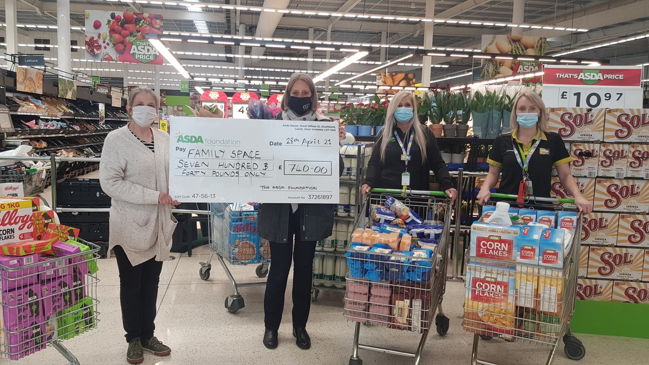 Family space receive their Supporting Communities Grant | Asda Cheltenham