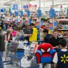 Walmart customers check out with their Black Friday deals