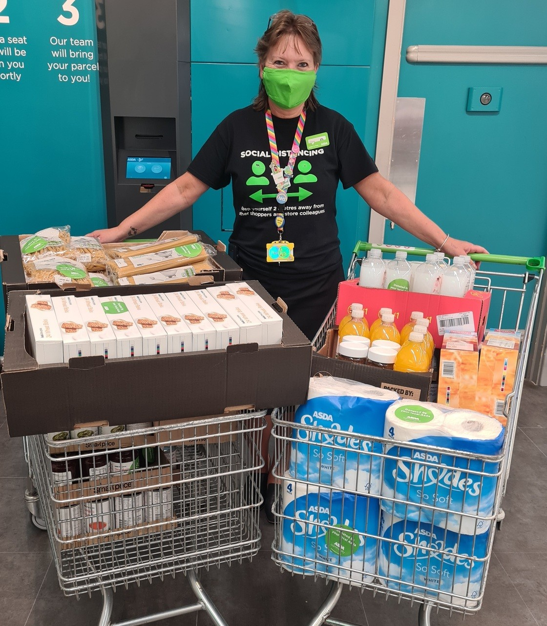 Ventnor Community Foodbank donation  | Asda Newport Isle of Wight