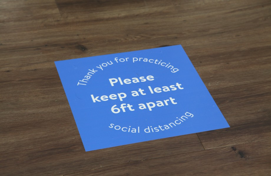 Social Distancing In-Store Signage