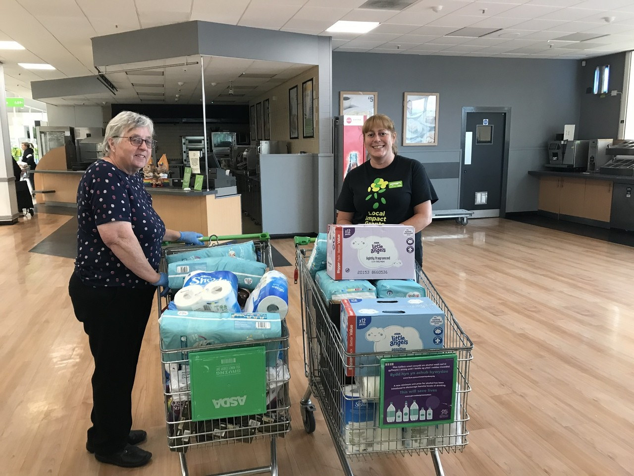 Salvation Army donation | Asda Cardiff Bay