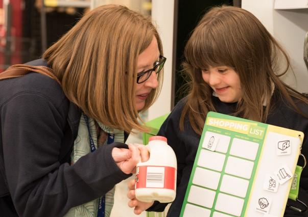 School pupils using Makaton at Asda Tunbridge Wells