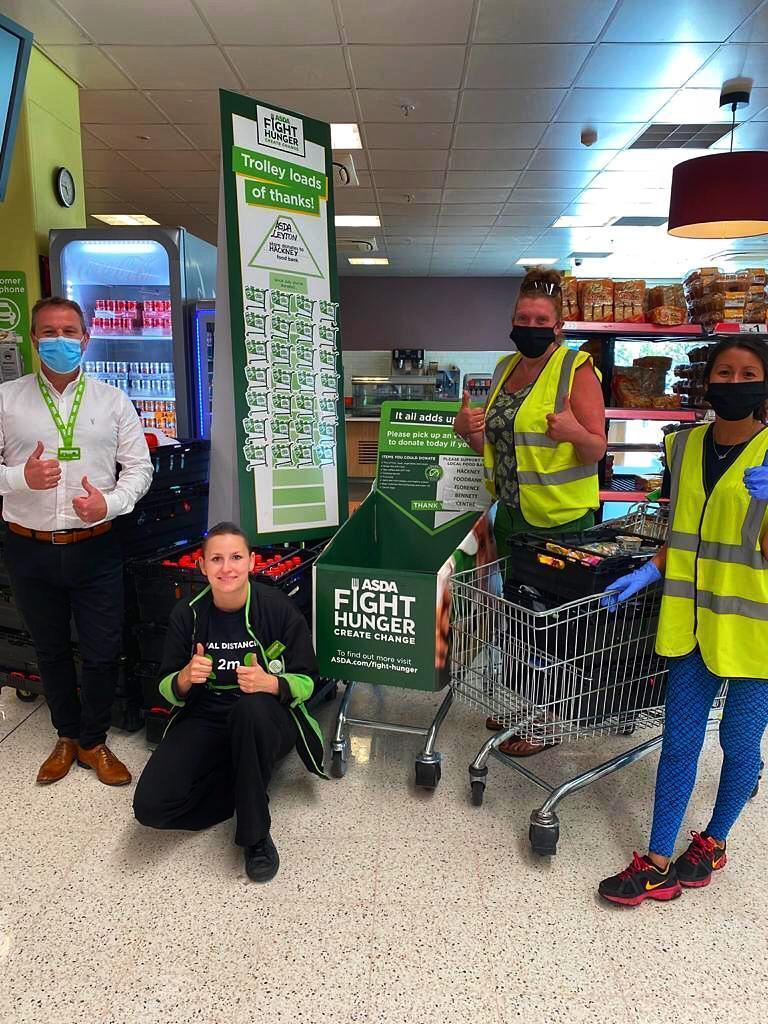 Hackney Foodbank visit Asda Leyton Mills to collect donations | Asda Leyton Mills