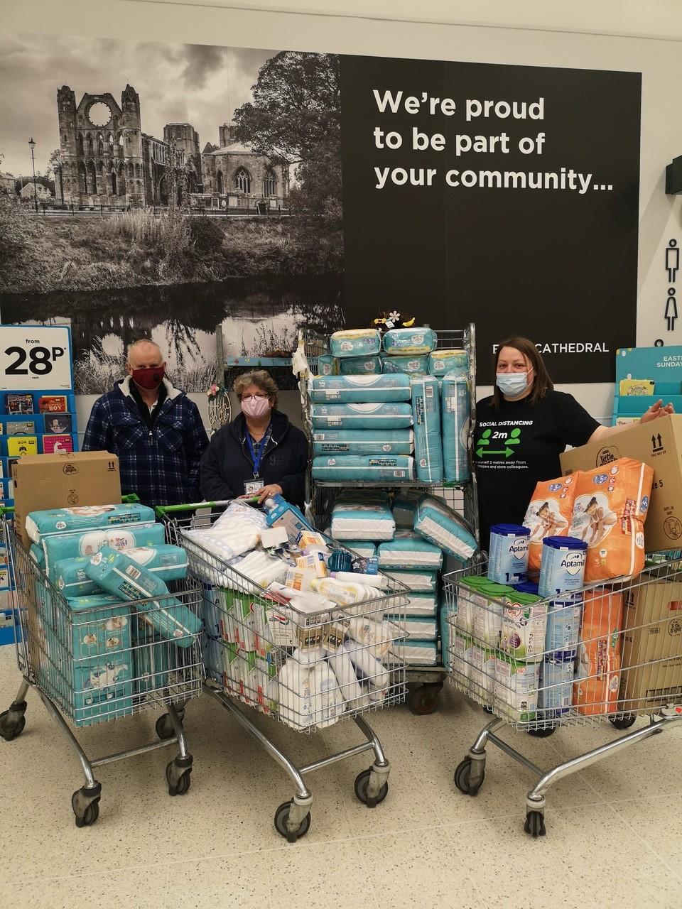Moray Baby Bank donation | Asda Elgin
