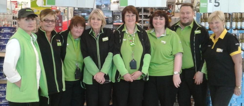 Long-serving colleagues at Asda Ashford