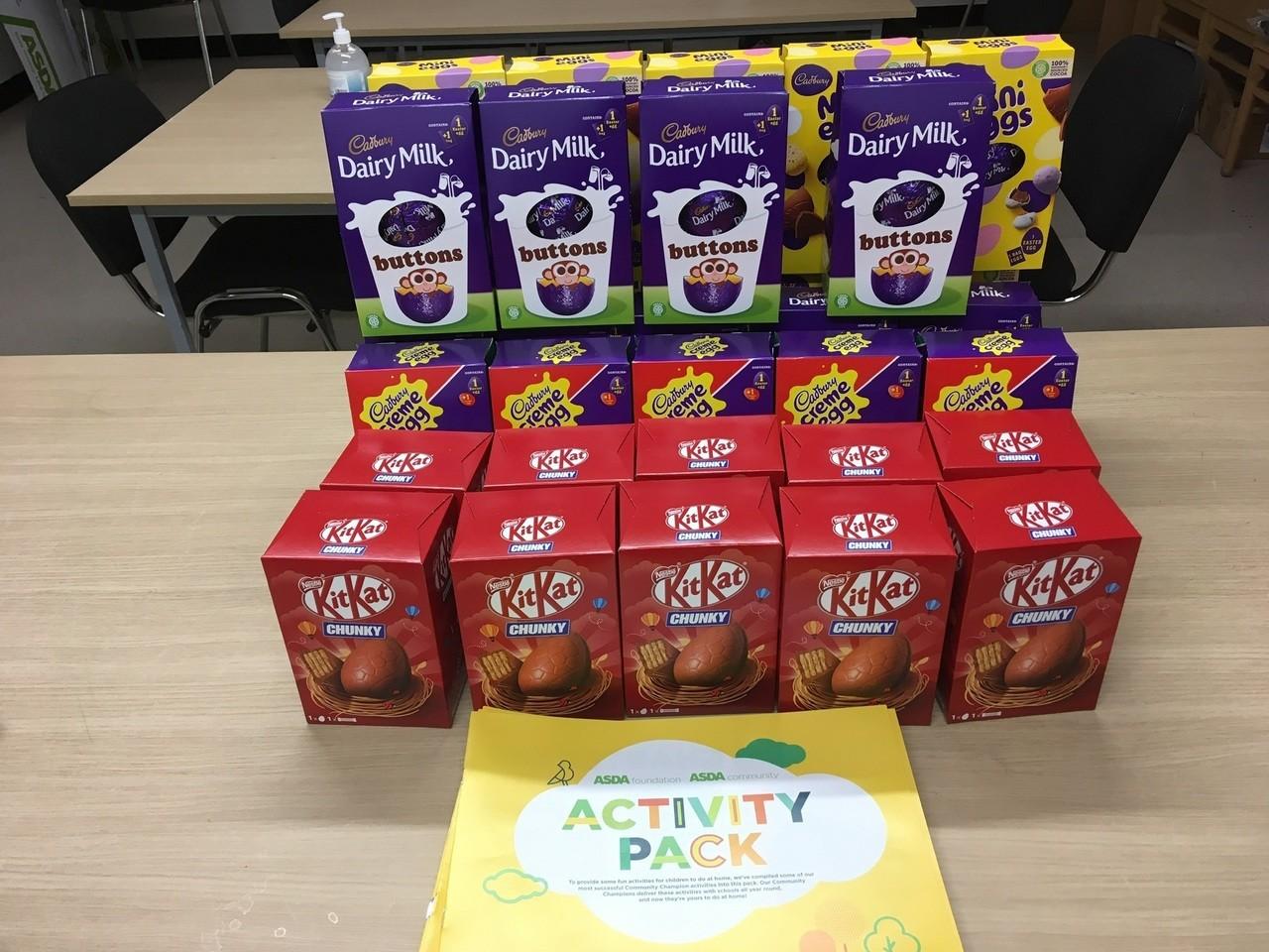 Easter egg donation for school staff | Asda Wheatley