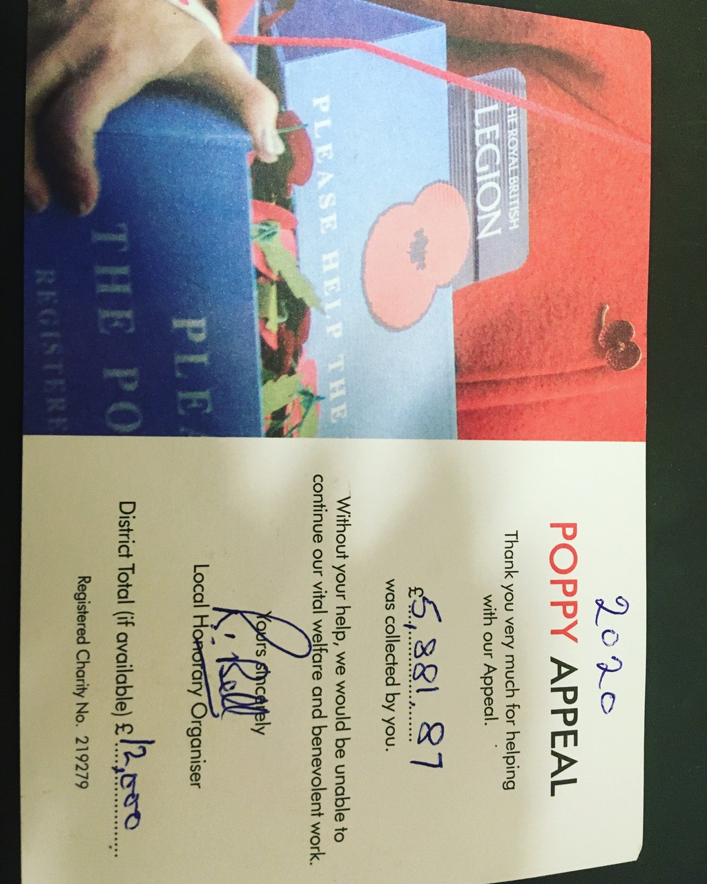 Poppy Appeal total | Asda Wheatley