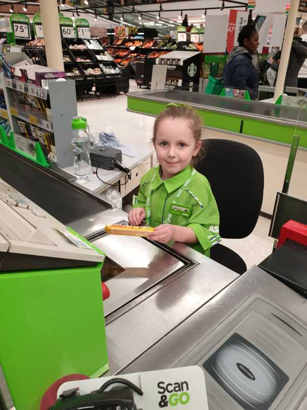 Asda Portsmouth makes five-year-old Bella-Rose's dream to be a colleague come true