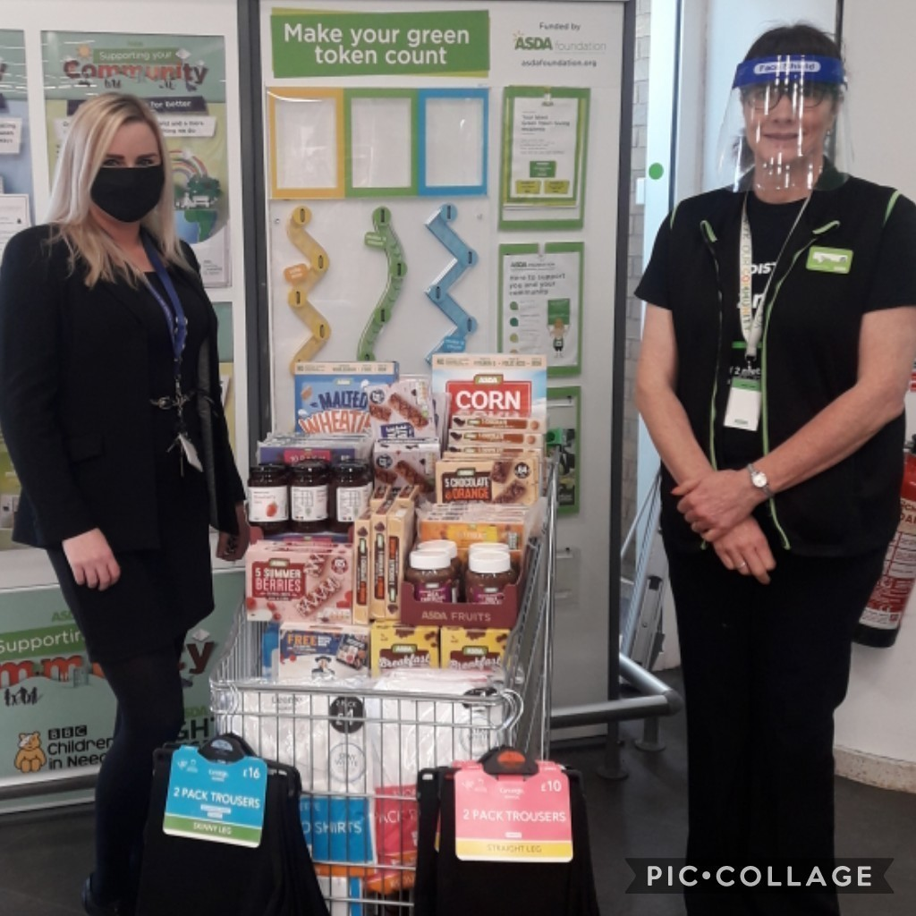 Donation to Pendle Community High School | Asda Colne