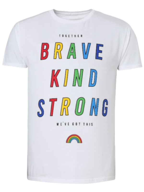 Rainbow T-shirt from George at Asda supports NHS Charities Together and The Care Workers' Charity