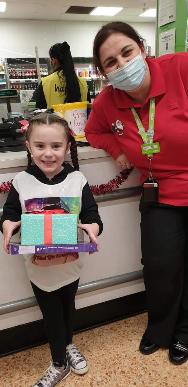 Asda Middlesbrough supports Esmae Morgan who raised more than £1,000 to help people in need this Christmas
