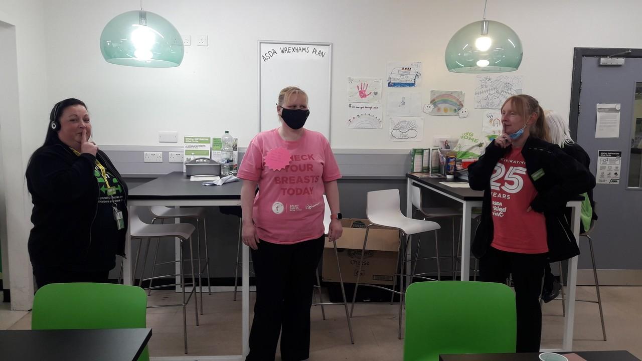 Ssshh! Colleague Lisa's sponsored silence raised money for Tickled Pink | Asda Wrexham