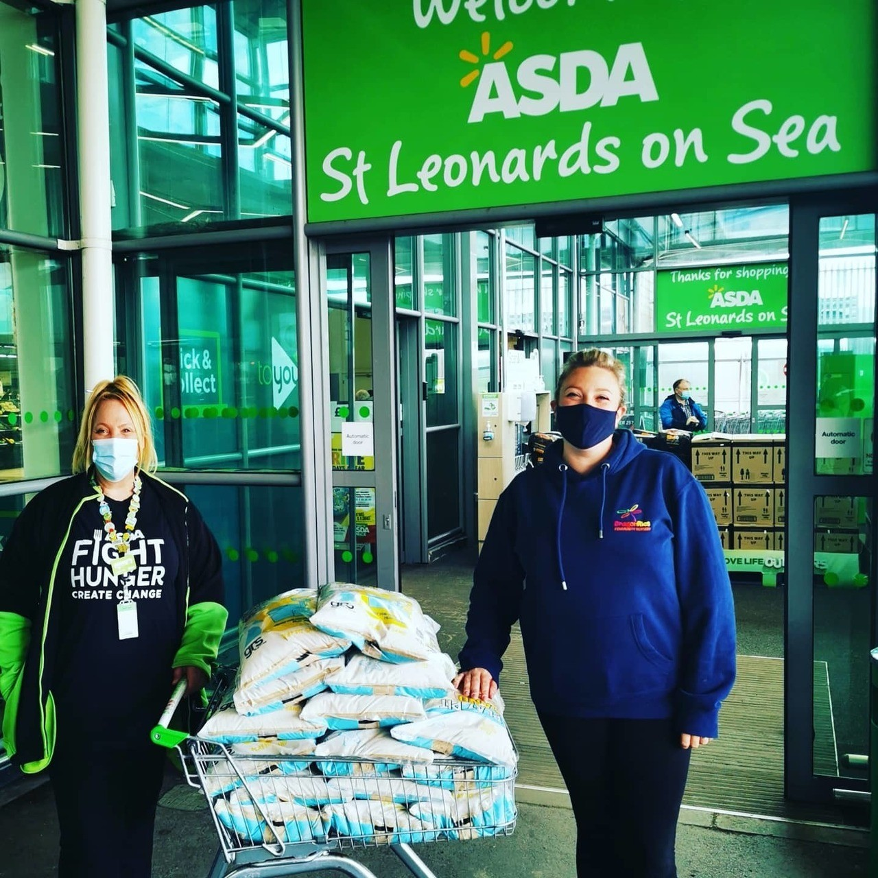Donating play sand to local nursery ❤️   Asda St Leonards on Sea
