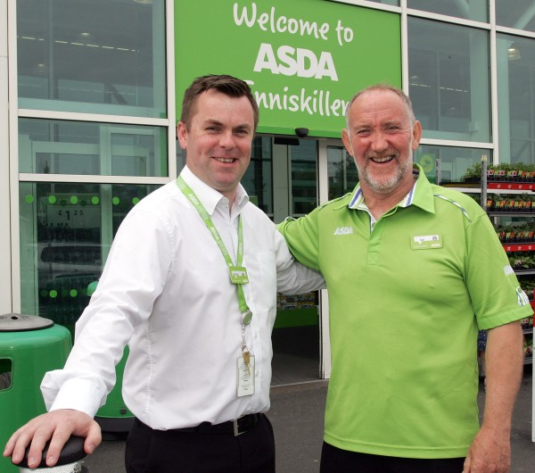 Asda Enniskillen father and son colleagues Simon and Gerard Burns