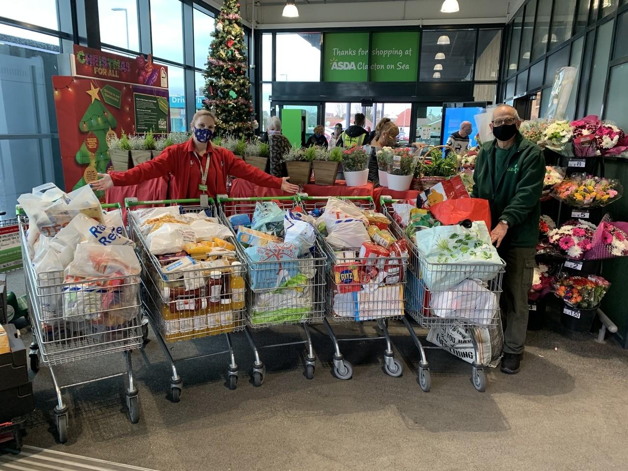 Clacton food bank donations | Asda Clacton-on-Sea