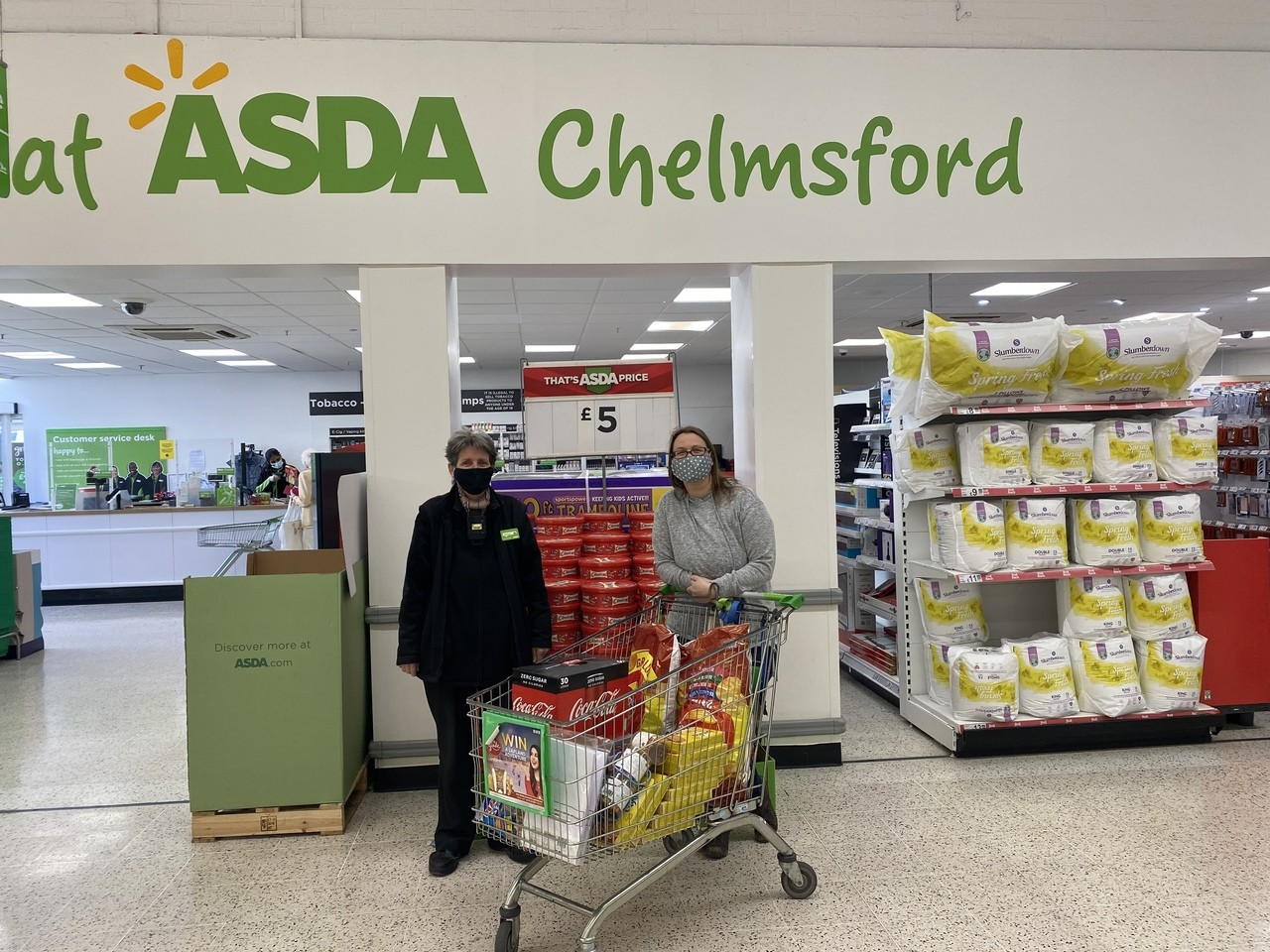 Donation to Caddy! | Asda Chelmsford