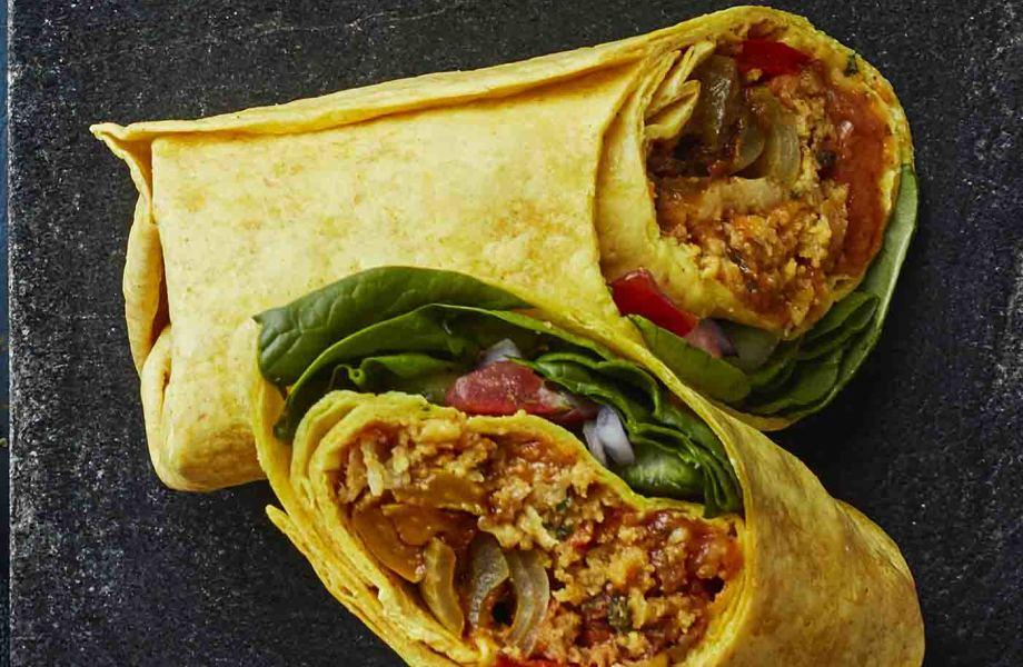 Vegan Onion Bhaji Wrap