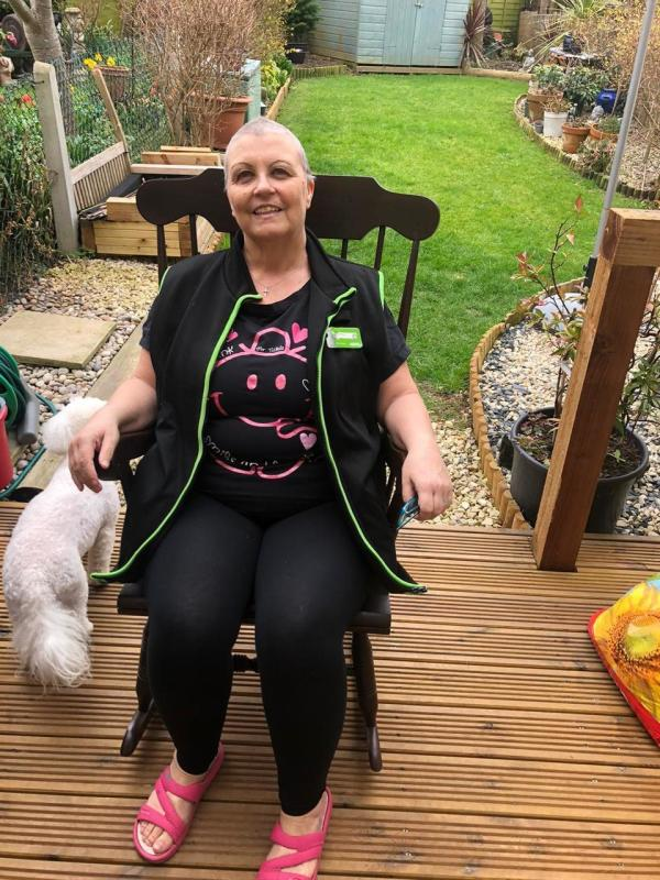 Carrie Downs from Asda Shoebury supports Tickled Pink