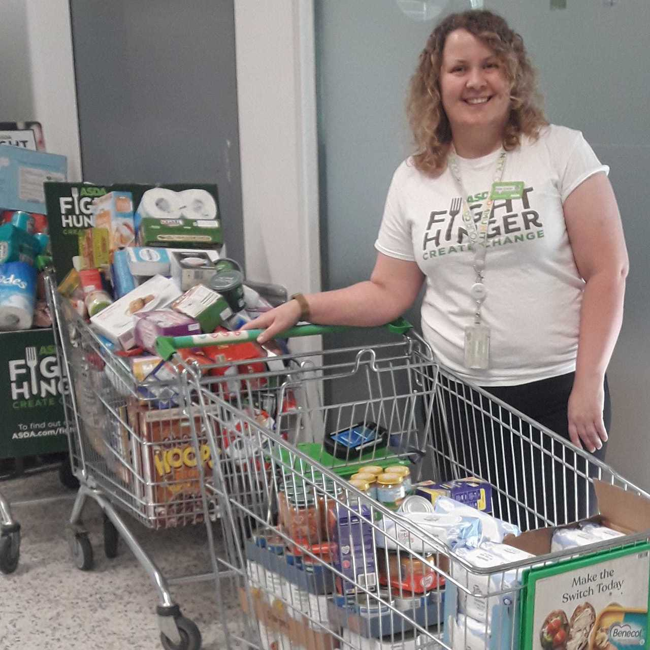 Food donation to Wirral Foodbank | Asda Bromborough
