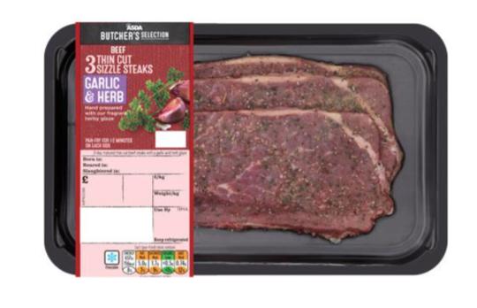 Garlic & Herb Thin Cut Beef Sizzle Steak
