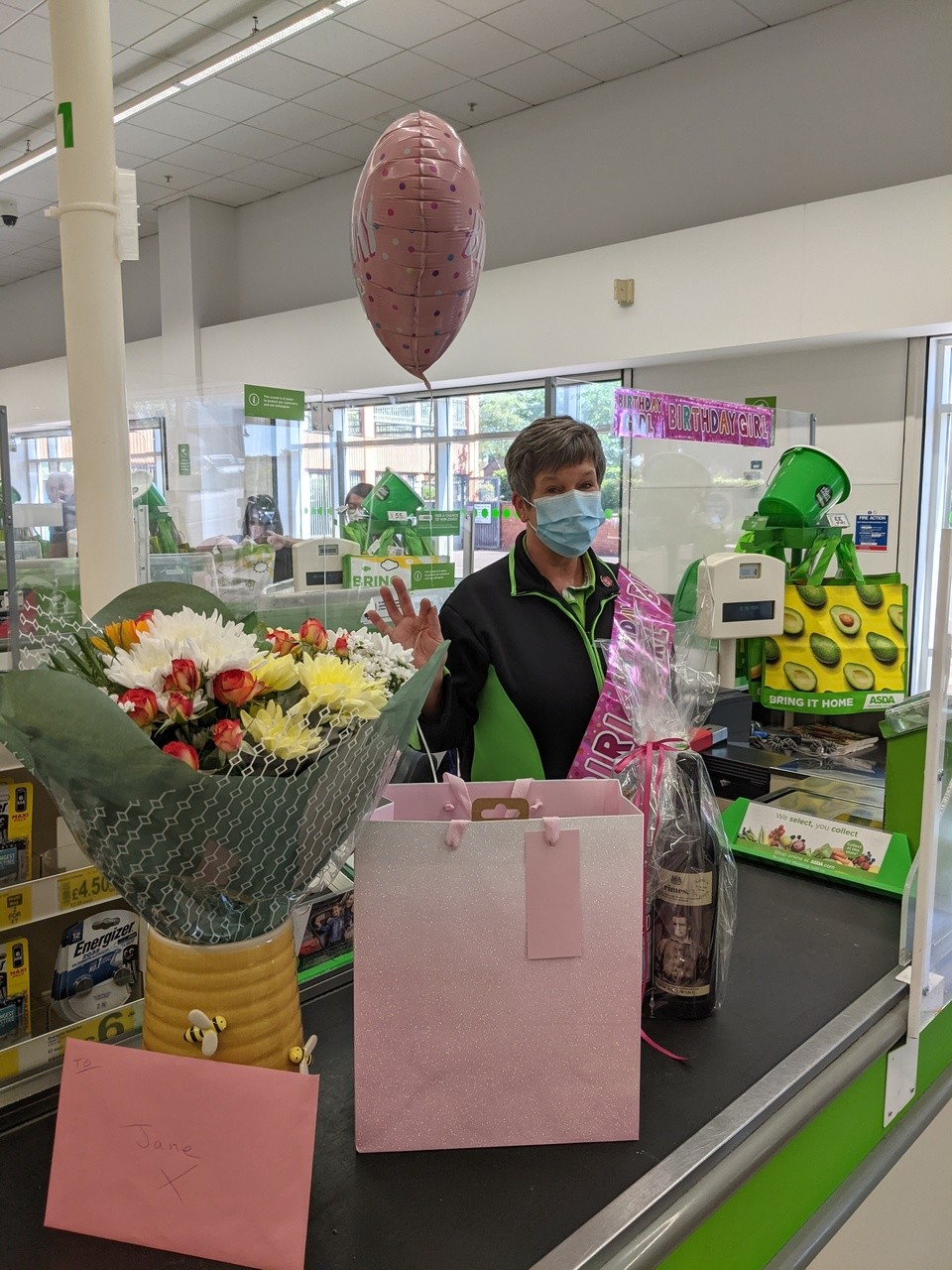 Birthday wishes to colleague Jane | Asda Bromsgrove