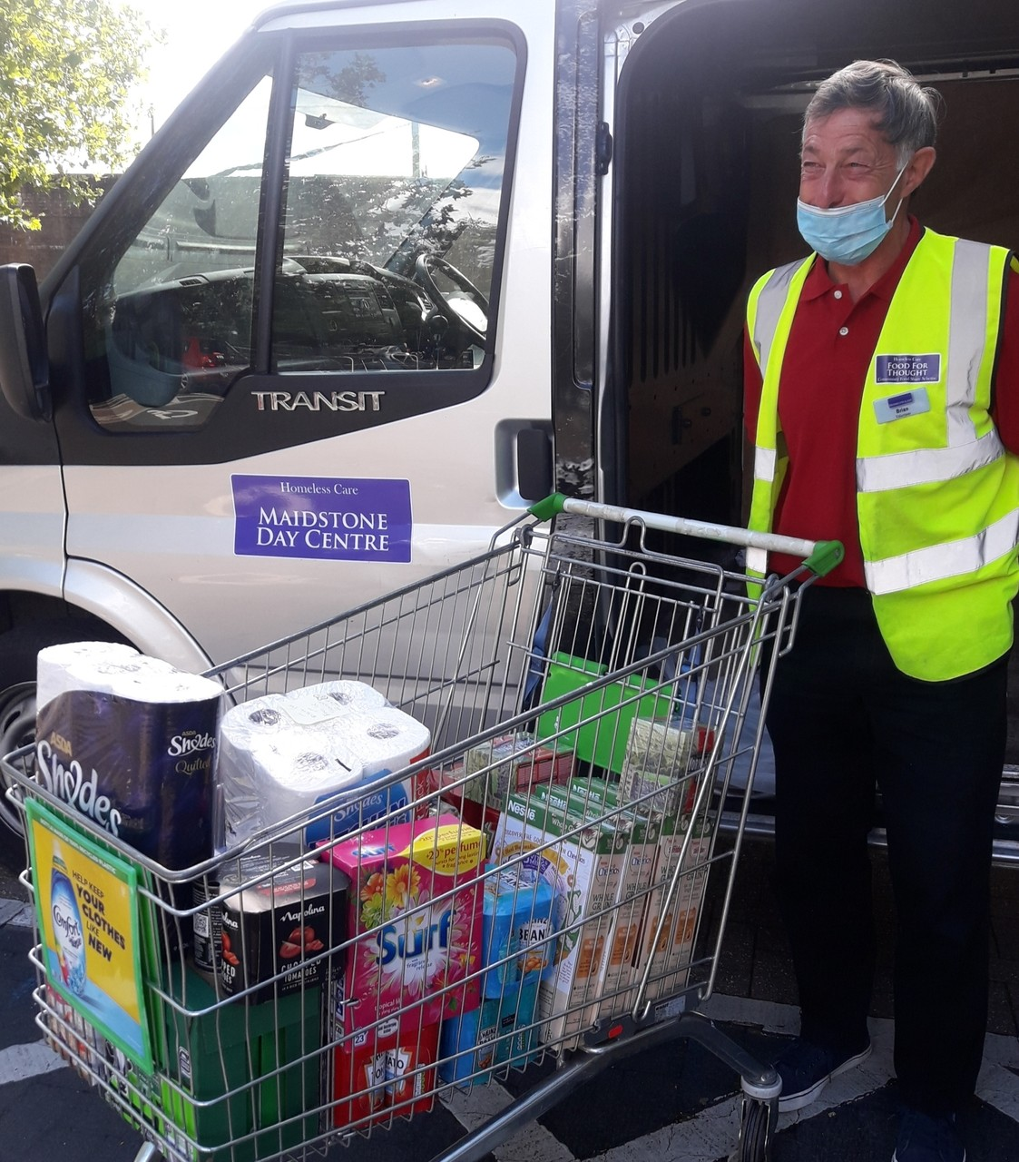 Charity donation to Maidstone Day Centre to help homeless people in the community | Asda Kingshill