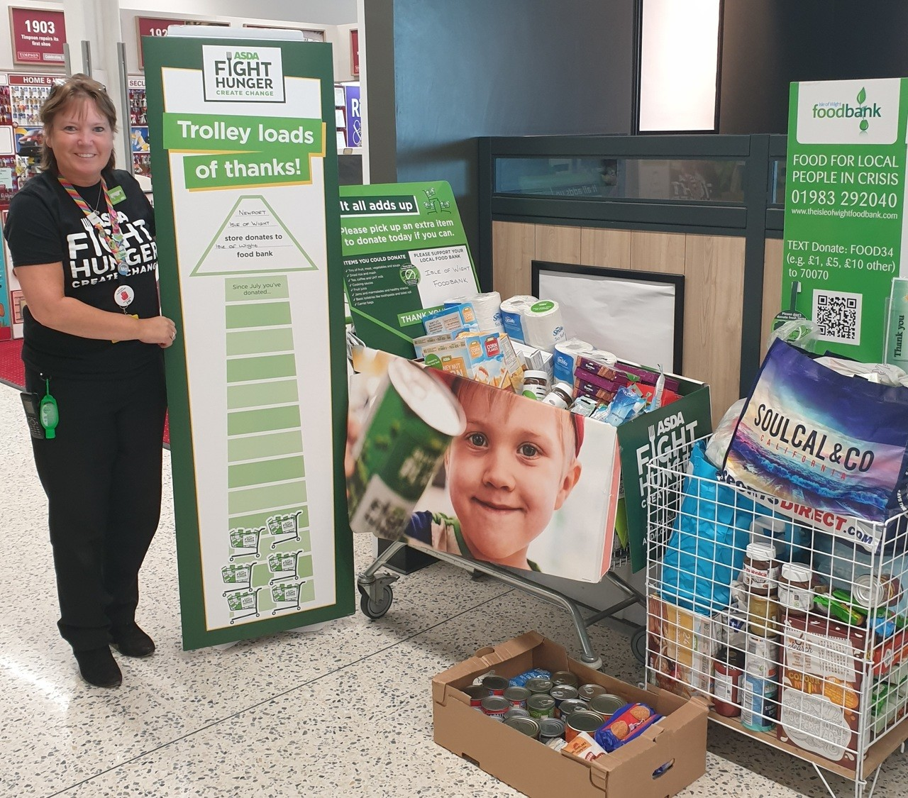 Fight Hunger support | Asda Newport Isle of Wight