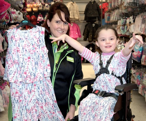 Alexa receives her new jumpsuit from Lisa at Asda Hessle