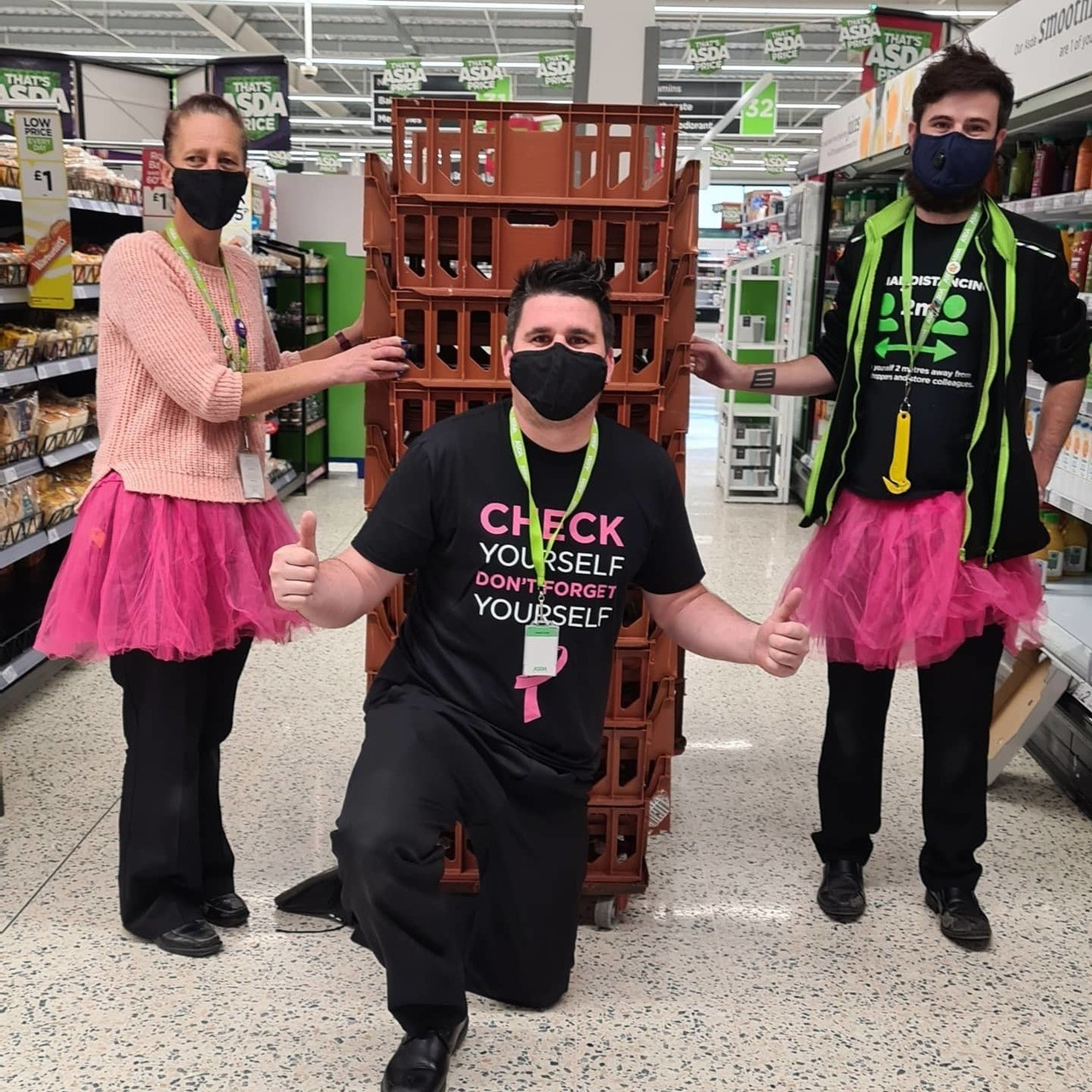 Tickled Pink support | Asda Newport Isle of Wight